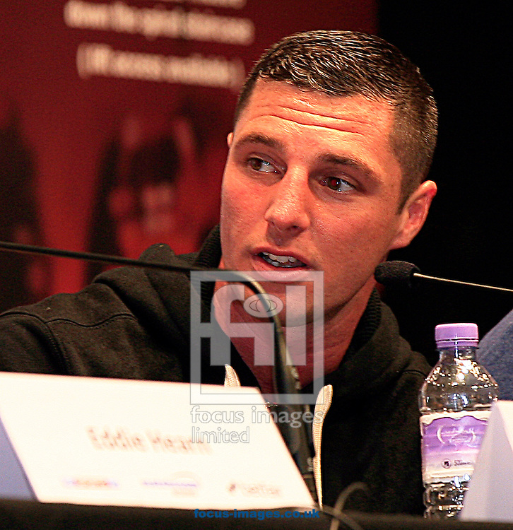 Picture by Richard Gould/Focus Images Ltd +44 7855 403186<br /> 22/06/2013<br /> Tommy Coyle speaks about Drew Mathews (not in picture) pictured during a press conference at Hull City Hall.