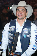 Ednei Caminhas at The Professional Bull Rider's Built Ford Tough Invitational Draft held at Madison Square Garden on January 9, 2009 in New York City..The format of the Built Ford Tough Invitational consists of four rounds of competition with the first three rounds featuring the top 45 qualified riders randomly matched against the sport's rankest bulls.
