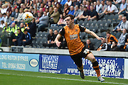 Andrew Robertson  during the Sky Bet Championship match between Hull City and Queens Park Rangers at the KC Stadium, Kingston upon Hull, England on 19 September 2015. Photo by Ian Lyall.