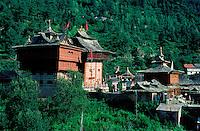 Inde - Province de l'Himachal Pradesh - Vallée du Kinnaur - Temple hindou à Sarahan