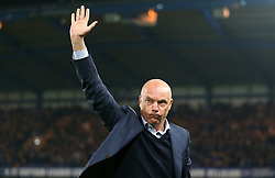 Malmo head coach Uwe Rosler applauds the fans prior to kick-off