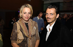 BAY GARNETT and fashion designer MATTHEW WILLIAMSON at the launch party for 'The London Look - Fashion From Street to Catwalk' held at the Museum of London, London Wall, Londom EC2 on 28th October 2004<br />