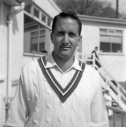 Basil D'Oliveira, a Cape Town born South African who has joined Worcestershire on a three year contract in 1964 and who has just become eligible for championship matches.