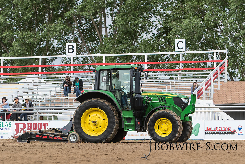 Barrel racing slack at the Elizabeth Stampede on Sunday, June 3, 2018.