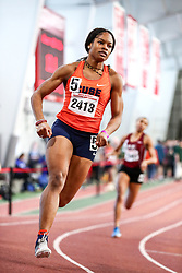 David Hemery Valentine Invitational<br /> Indoor Track & Field at Boston University , womens 400 meters, heat 2, Syracuse,