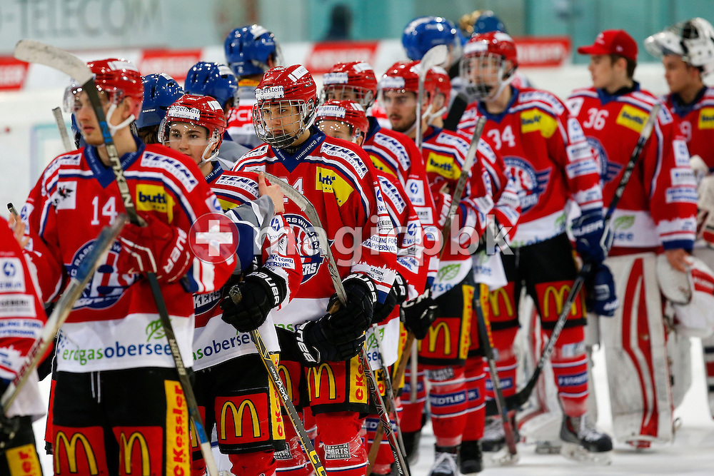Rapperswil-Jona Lakers defenseman Lars Mathis is pictured during an Elite A Ranking Round 9-13 ice hockey game between Rapperswil-Jona Lakers and EHC Biel-Bienne Spirit held at the Diners Club Arena in Rapperswil, Switzerland, Sunday, Feb. 28, 2016. (Photo by Patrick B. Kraemer / MAGICPBK)