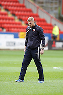 Pavel Pogrebnyak of Reading checks the pitch s before the Sky Bet Championship match at The Valley, London<br /> Picture by Andrew Tobin/Focus Images Ltd +44 7710 761829<br /> 05/04/2014