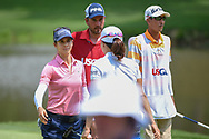 Azahara Munoz (ESP) and Jennifer Song (USA) hug following  round 4 of the U.S. Women's Open Championship, Shoal Creek Country Club, at Birmingham, Alabama, USA. 6/3/2018.<br /> Picture: Golffile | Ken Murray<br /> <br /> All photo usage must carry mandatory copyright credit (© Golffile | Ken Murray)