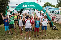 Kids during Day 8 at ATP Challenger Zavarovalnica Sava Slovenia Open 2018, on August 10, 2018 in Sports centre, Portoroz/Portorose, Slovenia. Photo by Vid Ponikvar / Sportida