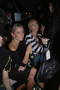 Davinia taylor and Jenny Frost, Topshop Fashion Show and party. Berkeley Sq. London. 19  September 2005. ONE TIME USE ONLY - DO NOT ARCHIVE © Copyright Photograph by Dafydd Jones 66 Stockwell Park Rd. London SW9 0DA Tel 020 7733 0108 www.dafjones.com