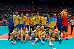 13-09-2019 NED: EC Volleyball 2019 Czech Republic - Ukraine, Rotterdam<br /> First round group D / Team Ukraine