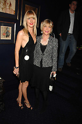 Left to right, LADY EMILY COMPTON and her mother ROSIE, MARCHIONESS OF NORTHAMPTON at a party to celebrate the publication of the 2007 Tatler Little Black Book held at Tramp, 40 Jermyn Street, London on 7th November 2007.<br />