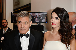 George Clooney and Amal during the 42nd Annual Cesar Cinema Awards held at the Salle Pleyel in Paris, France on February 24, 2017. Photo by Aurore Marechal/ABACAPRESS.COM