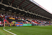 Leeds United away end during the EFL Sky Bet Championship match between Bristol City and Leeds United at Ashton Gate, Bristol, England on 4 August 2019.