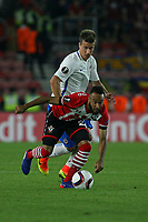 Football - 2016 / 2017 Europa League - Group K: Southampton vs. Sparta Prague<br /> <br /> Southampton's Nathan Redmond rides over the challenge from Lukas Marecek of Sparta Praha to set up another Southampton attack at St Mary's Stadium Southampton <br /> <br /> Colorsport/Shaun Boggust