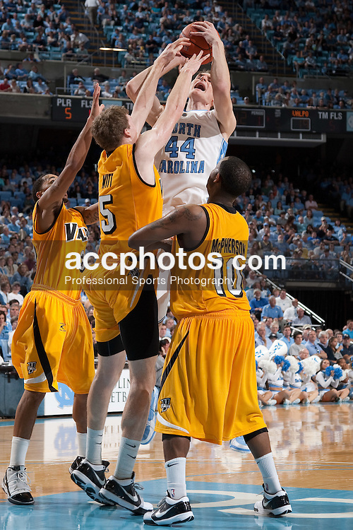15 November 2009: North Carolina Tar Heels forward Tyler Zeller (44) during a 88-77 win over the Valparaiso Crusaders at the Dean Smith Center in Chapel Hill, NC.