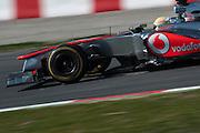 February 20, 2013 - Barcelona Spain. Sergio Perez, Vodafone McLaren Mercedes  during pre-season testing from Circuit de Catalunya.
