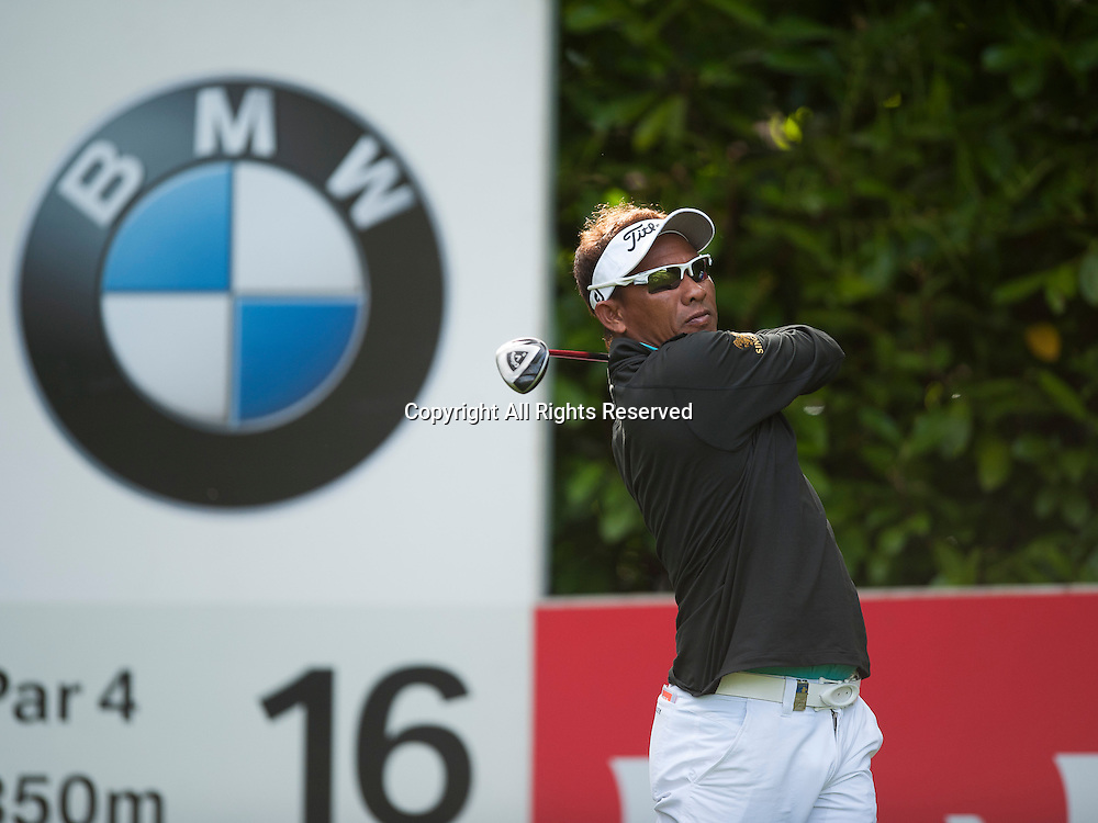 23.05.2014. Wentworth, England.  Thongchai JAIDEE [THA] during the second round of the 2014 BMW PGA Championship from The West Course Wentworth Golf Club