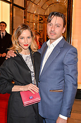 SIENNA GUILLORY and ENZO CILENTI at the launch of the new Bulgari flagship store at 168 New Bond Street, London on 14th April 2016.