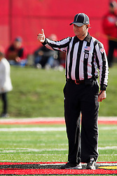 NORMAL, IL - October 13: Back Judge Rick Warne during a college football game between the ISU (Illinois State University) Redbirds and the Southern Illinois Salukis on October 13 2018 at Hancock Stadium in Normal, IL. (Photo by Alan Look)