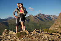 Friends on Flat Top Mountain trail, Anchorage, Alaska