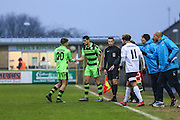 Forest Green Rovers Omar Bugiel(11) comes on as sub to make his debut during the Vanarama National League match between Forest Green Rovers and Boreham Wood at the New Lawn, Forest Green, United Kingdom on 11 February 2017. Photo by Shane Healey.
