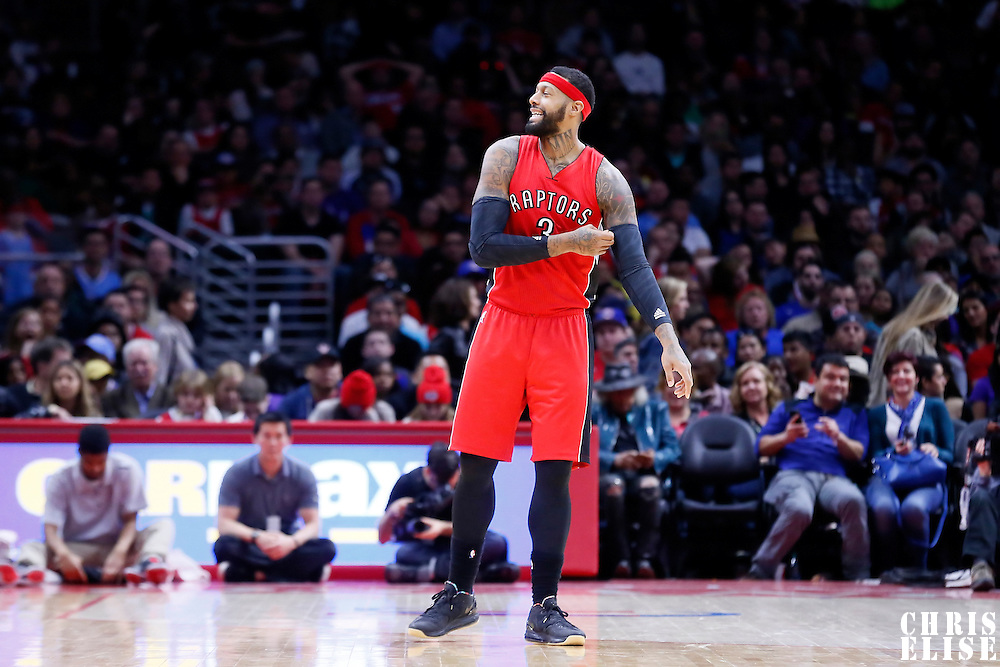 27 December 2014: Toronto Raptors forward James Johnson (3) is seen during the Toronto Raptors 110-98 victory over the Los Angeles Clippers, at the Staples Center, Los Angeles, California, USA.