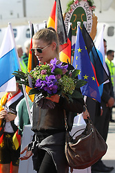 15.07.2014, Flughafen, Muenchen, GER, FIFA WM, Empfang der Weltmeister in Deutschland, Finale, im Bild Sarah Brandner, Freundin von Bastian Schweinsteiger #7 (Deutschland) // during Celebration of Team Germany for Champion of the FIFA Worldcup Brazil 2014 at the Flughafen in Muenchen, Germany on 2014/07/15. EXPA Pictures © 2014, PhotoCredit: EXPA/ Eibner-Pressefoto/ Kolbert  *****ATTENTION - OUT of GER*****