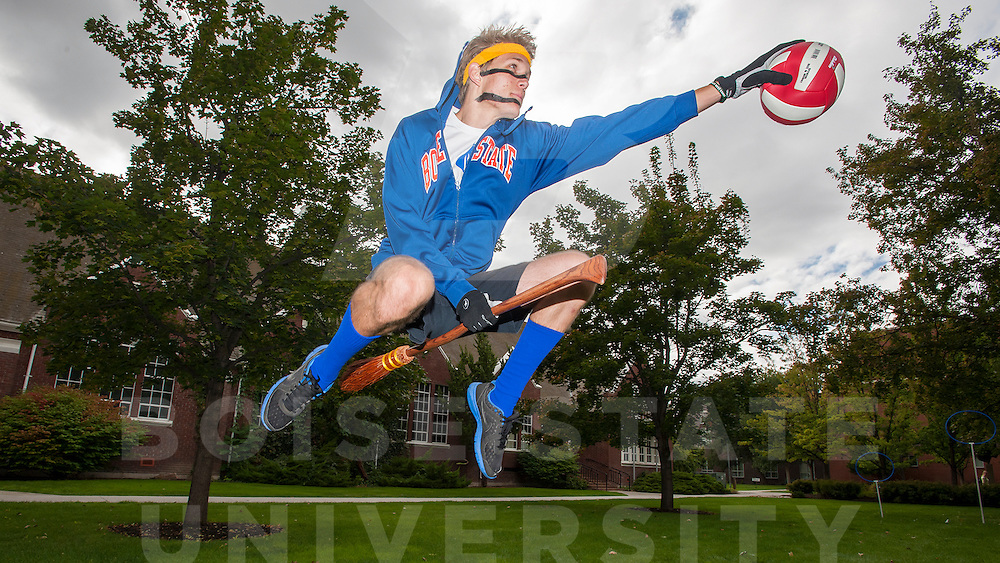 Boise State Quidditch Team, Club Sports, for online edition of Focus, Carrie Quinney photo