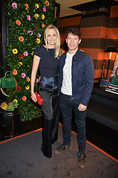 JAMES BLUNT and his wife SOFIA at a private dinner for designer Ethan K held at Blakes Hotel, 33 Roland Gardens, London on 26th October 2016.