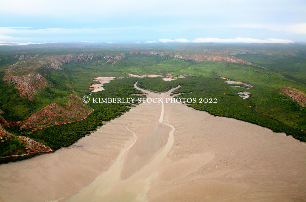 Extensive mudflats at the western end of Dugong Bay on the Kimberley coast.