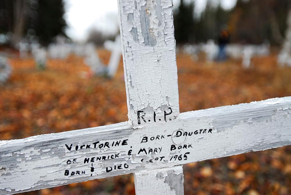 URANIUM CITY, SK - 08/10/08 -  Uranium City Saskatchewan graveyard.  Photo by Daniel Hayduk