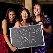 Sina's 21st Birthday: Saturday 9 July 2016