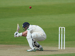 Michael Klinger of Gloucestershire ducks out of the way of the ball  - Photo mandatory by-line: Dougie Allward/JMP - Mobile: 07966 386802 - 08/06/2015 - SPORT - Football - Bristol - County Ground - Gloucestershire Cricket v Lancashire Cricket Day 2 - LV= County Championship