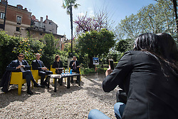 April 13, 2018 - Rome, Italy, Italy - press conference of ''Israel 70'', the event organized and promoted by the Jewish Community of Rome on the occasion of the 70th anniversary of the State of Israel. on April 13, 2018 in Rome, Italy  (Credit Image: © Andrea Ronchini/NurPhoto via ZUMA Press)
