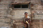 Alejandro Zacarias, artist, Tijuana. ..© Stefan Falke.http://www.stefanfalke.com/..