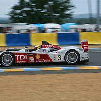 #3 Audi R10 TDI - Audi Sport Team Joest (Drivers - Lucas Luhr, Mike Rockenfeller and Alexandre Prémat) LMP1, Le Mans 24Hr 2007