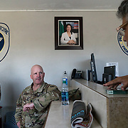OCTOBER 20 - SALINAS, PUERTO RICO - <br /> 105th Engineer Battalion Lt. Coronel Cale Moody, visited the municipal police headquarters in Salinas as he assesses damage caused by Hurricane Maria in his town.<br /> (Photo by Angel Valentin/Freelance)