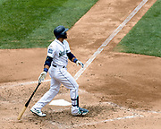 Seattle Mariners Robinson Canó low key homerun bat drop.<br /> <br /> Photo Credit: Alika Jenner