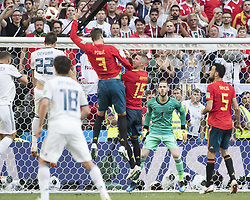 July 1, 2018 - Moscow, Russia - Moscow, Russia- July 1, 2018: Russia vs Spain, round of 16, 2018 World Cup.  Final score Spain 1, Russia 1, Russia wins 4-3 on penalty kicks. (Credit Image: © Steven Limentani/ISIPhotos via ZUMA Wire)