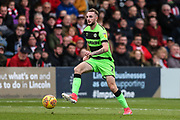 Forest Green Rovers Carl Winchester(7) on the ball during the EFL Sky Bet League 2 match between Lincoln City and Forest Green Rovers at Sincil Bank, Lincoln, United Kingdom on 3 November 2018.