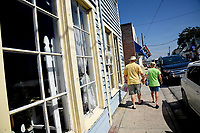 Visitors to Swansboro shop in the historic Onslow County town.
