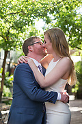 Bride and Groom celebrate their outdoor wedding with family and friends at Stable Cafe and Urban Putt in San Francisco, California, on May 29, 2017. (Stan Olszewski/SOSKIphoto)