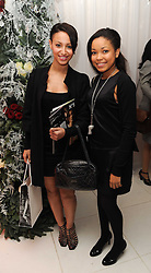 Left to right, Amelle Berrabah and Dionne Bromfield at the launch of the English National Ballet's Christmas season 2009 held at the St.Martin;s Lane Hotel, London on 15th December 2009.