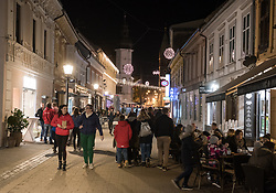 Slovenska street during the prizig praznicnih luck - The switch on the festive lights, on November 29, 2019 in Maribor, Slovenia. Photo by Milos Vujinovic / Sportida