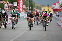 Tiffany Cromwell (AUS) of CANYON//SRAM Racing wins second group's sprint during the the Giro Rosa 2016 - Stage 1. A 104 km road race from Gaiarine to San Fior, Italy on July 2nd 2016.