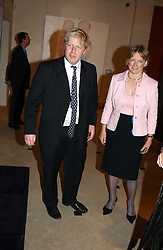 BORIS JOHNSON and DIANA BERRY at a fundraising evening for the Conservative Party General Election Campaign Fund held at Bonhams, 101 New Bond Street, London W1 on 17th March 2005.<br /><br />NON EXCLUSIVE - WORLD RIGHTS