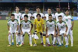 October 8, 2017 - Kolkata, West Bengal, India - Iraq football team during the FIFA U 17 World Cup India 2017 Group F matches in Kolkata. Player of Mexico and Iraq in action during the FIFA U 17 World Cup India 2017 Group F match on October 9, 2017 in Kolkata  (Credit Image: © Saikat Paul/Pacific Press via ZUMA Wire)