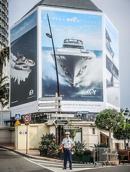 September 24, 2016 - Monaco, Monaco - Signage in Monte Carlo for the 26th Monaco Yacht Show with some 125 of the most desirable superyachts from around the world on display between 28 September and 1 October. The Monaco Yacht Show is held in Port Hercules, and is Europe's biggest in-water display of superyachts. (Credit Image: © Hugh Peterswald/Pacific Press via ZUMA Wire)
