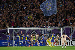 Tonel #13 of Dinamo Zagreb scores a goal during Play-offs for Champions League between NK Maribor (Slovenia) and GNK Dinamo Zagreb (Croatia), on August 28, 2012, in Maribor, Slovenia. (Photo by Matic Klansek Velej / Sportida.com)